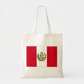 Peru flagga budget tygkasse