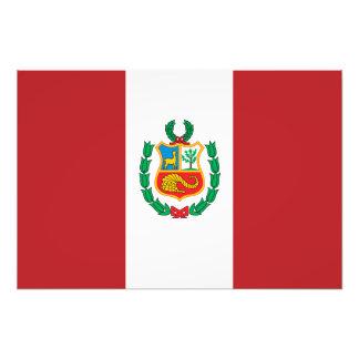 Peru flagga foton