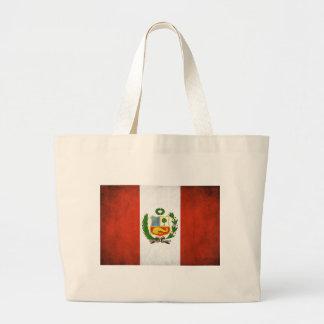 Peruansk flagga med emblemen jumbo tygkasse
