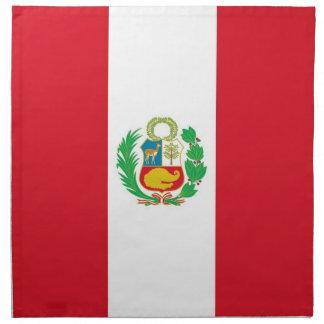 Peruansk flagga på den MoJo servetten Servetter Med Tryck