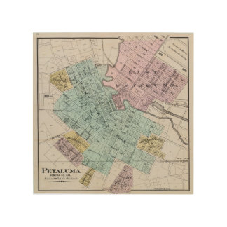 Petaluma Kalifornien 2 Trätavla
