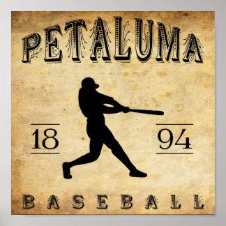 Petaluma Kalifornien baseball 1894 Poster