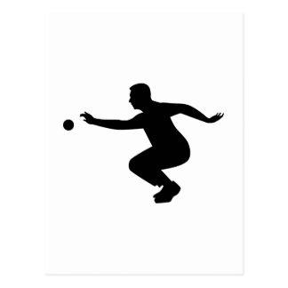 Petanque spelare vykort