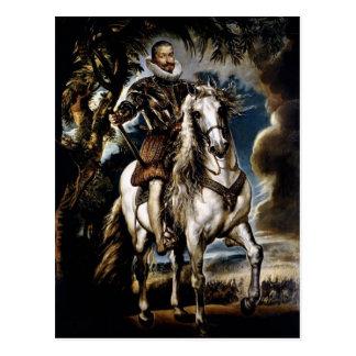 Peter Rubens- rid- porträtt av hertigen, Lerma Vykort