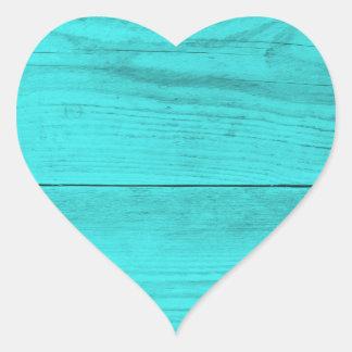 Petrolträ strukturerar hjärtformat klistermärke