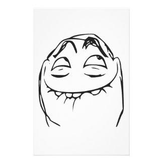 PFFTCH som skrattar ursinneansiktetecknaden Meme Brevpapper