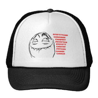 PFFTCH som skrattar ursinneansiktetecknaden Meme Trucker Kepsar