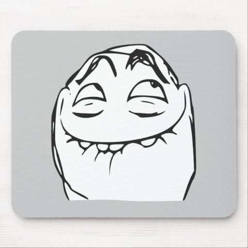 PFFTCH som skrattar ursinneansiktetecknaden Meme Mus Matta