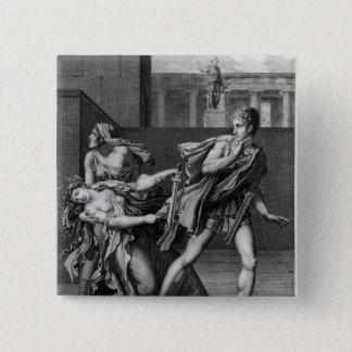 Phaedra, Oenone och Hippolytus Standard Kanpp Fyrkantig 5.1 Cm