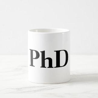 PhD-mugg Vit Mugg
