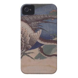 Pheasant och orm av Katsushika Hokusai iPhone 4 Case-Mate Skydd