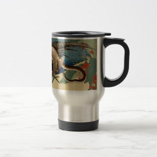 Pheasant och ormen rostfritt stål resemugg