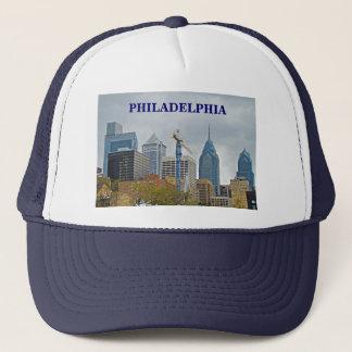 Philadelphia horisont från floden går keps