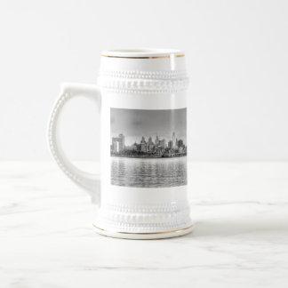 Philadelphia horisont i svartvitt ölkrus
