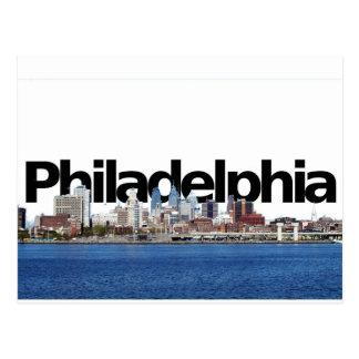 Philadelphia horisont med Philadelphia i himmlen Vykort