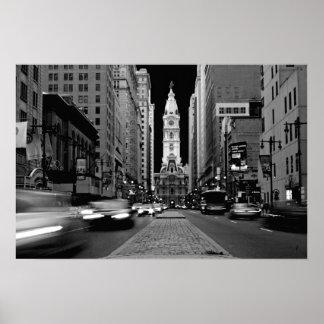 Philadelphia på nattaffischen poster