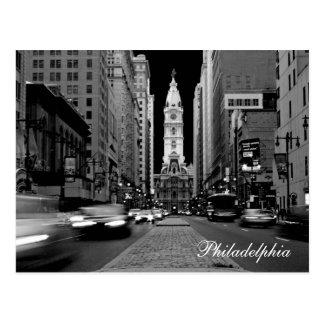 Philadelphia på nattvykortet vykort