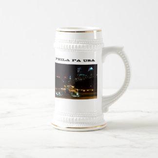 Philadelphia Pennsylvania horisont på natten Ölkrus