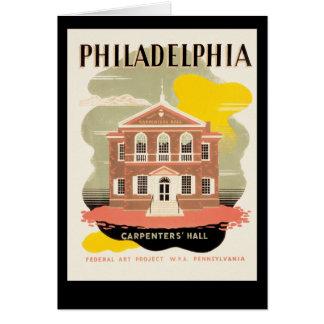 Philadelphia snickare Hall Hälsningskort