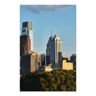 Philadelphia stadshorisont brevpapper