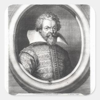 Philip de Mornay, räkning av Plessis Fyrkantigt Klistermärke