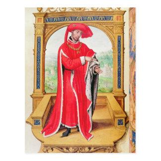Philip den bra hertigen av Burgundy Vykort