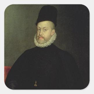 Philip II av Spanien 1565 Fyrkantigt Klistermärke