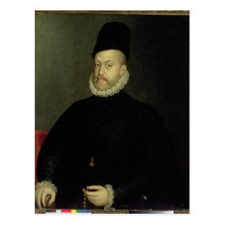 Philip II av Spanien 1565 Vykort