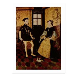 Philip II och Mary mig, 1558 Vykort