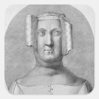 Philippa av Hainault Fyrkantigt Klistermärke
