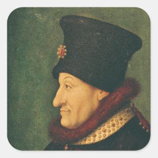 Philippe av frankrikehertigen av Burgundy Fyrkantigt Klistermärke