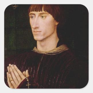 Philippe de Croy Seigneur av Sempy Fyrkantigt Klistermärke