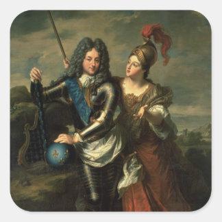 Philippe II d'Orleans regenten av frankriken Fyrkantigt Klistermärke
