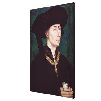 Philippe III le Bon, Duc de Bourgogne, c.1445 Canvastryck