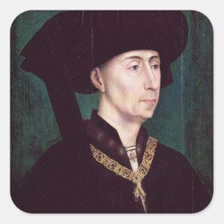 Philippe III le Bon, Duc de Bourgogne, c.1445 Fyrkantigt Klistermärke