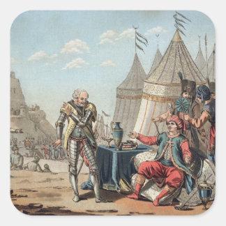 Philippe Villiers de L'Isle-Adam (1464-1534) refus Fyrkantigt Klistermärke