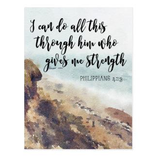 philippians för scripturecitationsteckennotecard vykort