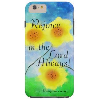 Philippiansscripturen, jublar i lorden Alltid Tough iPhone 6 Plus Fodral