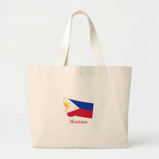 Philippines flagga över Montana den statliga Jumbo Tygkasse