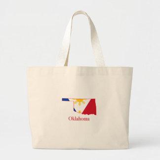 Philippines flagga över Oklahoma den statliga Jumbo Tygkasse