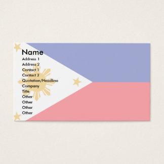 Philippines flagga visitkort