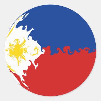 Philippines Gnarly flagga Rund Klistermärke
