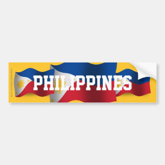 Philippines som vinkar flagga bildekal