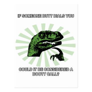 Philosoraptor bootyappeller vykort