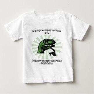 Philosoraptor pengar och kyrka t-shirt