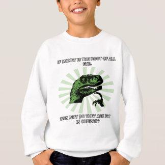 Philosoraptor pengar och kyrka tee shirt