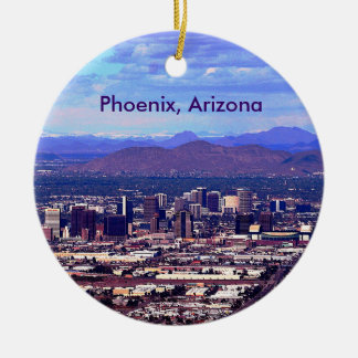 Phoenix Arizona Skycape i dag Julgransprydnad Keramik