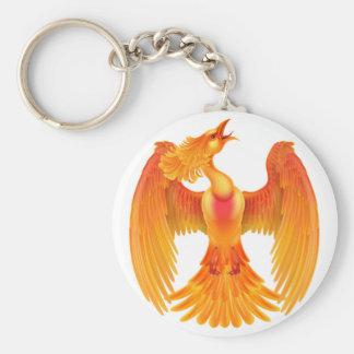 Phoenix avfyrar fågeln rund nyckelring