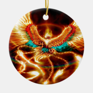 phoenix julgransprydnad keramik