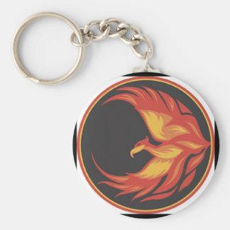 Phoenix Keychain Rund Nyckelring